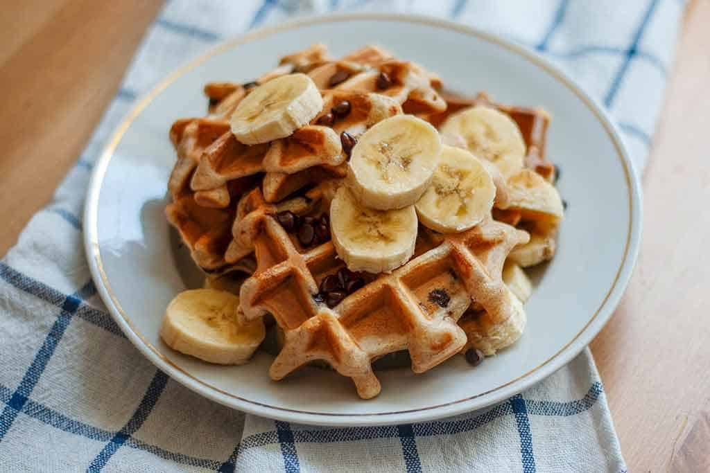 Waffles-on-plate-how-to-make-waffles-from-scratch