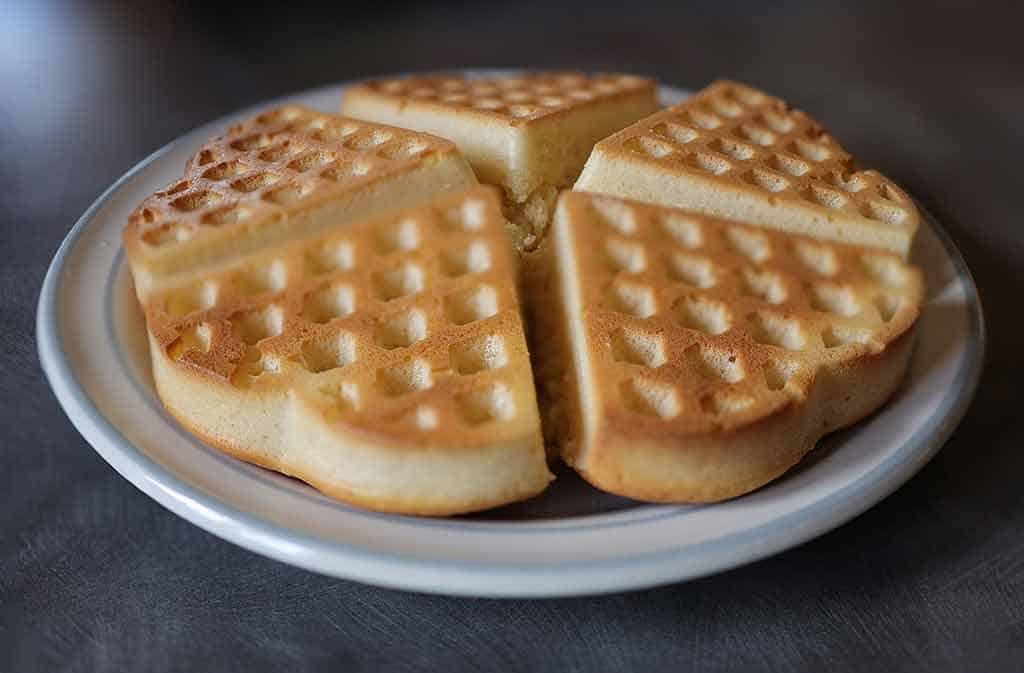 Can you make waffles without a waffle iron featured image - Oven baked heart shaped waffles