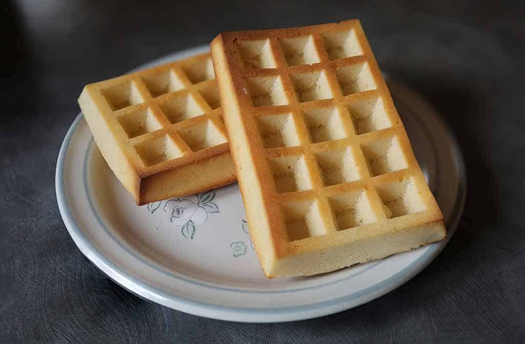 Square oven baked waffles